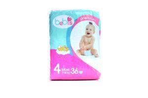 Подгузники детские 7-18кг Maxi Premium Bebis 36шт