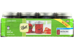 Ball Regular Mouth Half Pint Jars - 12 CT