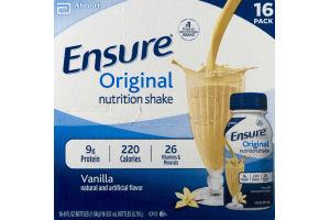Ensure Orginal Nutrtion Shake Vanilla - 16 CT