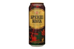 Напій слабоалкогольний 0.5л 8% Оболонь Бренді-Кола з/б
