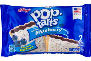 Kellogg's Pop-Tarts Toaster Pastries Frosted Blueberry - 2 CT