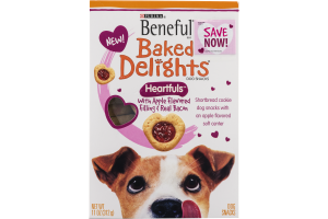 Purina Beneful Baked Delights Heartfuls with Apple Flavored Filling and Real Bacon