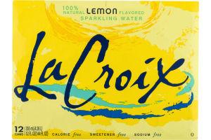 La Croix Sparkling Water Lemon Flavored - 12 CT