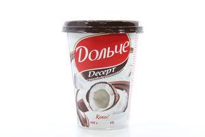 Десерт творожный 4% President Кокос с шоколадом Дольче п/ст 400г