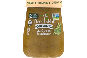Beech-Nut Organic Stage 2 Just Peas & Spinach