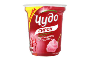 Творожок 5% Клубничное мороженое Чудо ст 230г