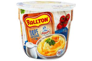 Пюре картопляне швидкого приготування зі смаком вершків Rollton ст 40г