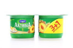 Біфідойогурт Danone Активіа Персик-мюслі 3% 4*140г х6