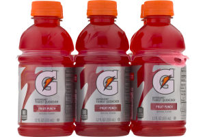 Gatorade Thirst Quencher Fruit Punch - 6 PK