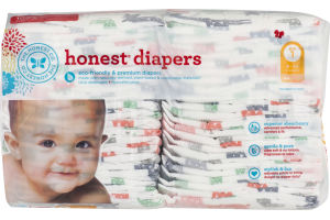 The Honest Co. Honest Diapers Multi-Colored Giraffes Size 1 - 44 CT