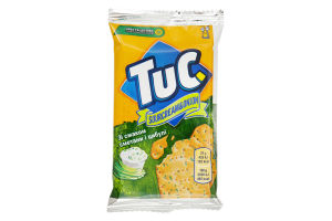 Крекер соленый со вкусом сметаны и лука Tuc м/у 21г