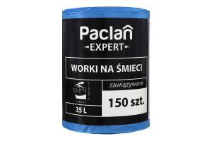 Мешки для мусора 35л Expert Paclan 150шт