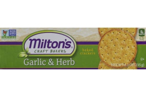 Milton's Craft Bakers Baked Crackers Garlic & Herb