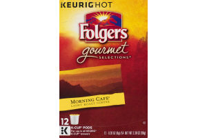 Folger's Gourmet Selections Morning Cafe Light Roast Coffee K-Cup Pods - 12 CT