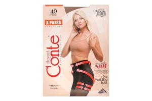 Колготки женские Conte X-press №8С-69СП 40den 2-S natural