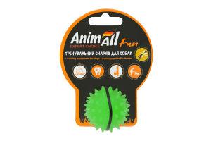 Снаряд тренировочный для собак 5см зеленый Каштан мяч Fun AnimAll 1шт