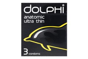 Презервативи у силіконовому змащувачі з накопичувачем Anatomic Ultra thin Dolphi 3шт