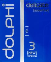 Презервативи у силіконовому змащувачі Delicate Dolphi 3шт