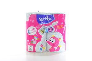 Бумага туалетная 2-х слойная Vivo Grite 4шт