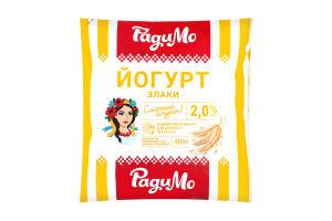 Йогурт 2% Злаки РадиМо м/у 400г