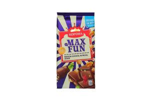 Шоколад Корона Max Fun карамель, мармелад, печиво 160г