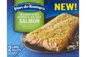 Van de Kamp's Cracked Black Pepper & Sea Salt Salmon - 2 CT