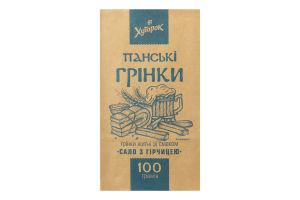 Гренки ржаные со вкусом сало с горчицей Панские Хуторок м/у 100г