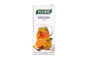Напиток слабоалкогольный 1л 5-7% виноградный винный белый Picnic Sangria Bianco т/п