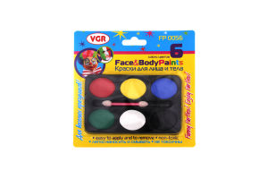 Фарби VRG для лиця та тіла 6шт fp0056
