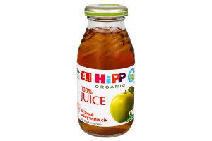 Сік для дітей від 4міс яблучний м'який Hipp с/пл 0.2л
