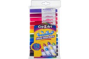 Cra-Z-Art Washable Mini Markers - 12 CT