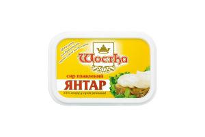 Сир 55% плавлений Янтар Шостка п/у 180г
