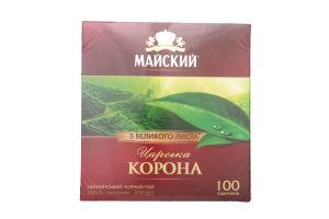 Чай черный Царская корона Майский к/у 100х2г