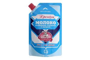 Молоко згущене 8.5% незбиране з цукром Преміум Заречье д/п 450г