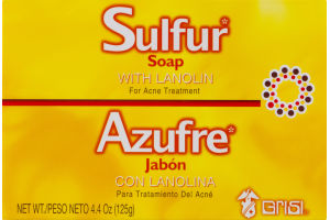 Grisi Sulfur Soap with Lanolin For Acne Treatment