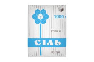 Соль каменная поваренная пищевая Артемсоль м/у 1кг