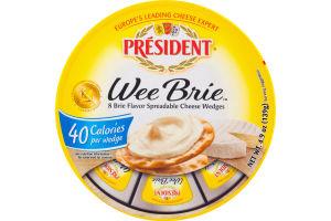 President Wee Brie Cheese Wedges - 8 CT