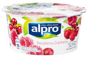 Продукт соєвий ферментований з малиною та журавлиною Alpro ст 150г