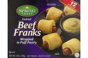 Spring Valley Cocktail Beef Franks wrapped in Puff Pastry