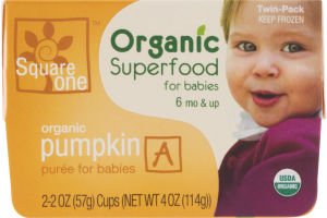 Square One Organic Superfood for Babies Organic Pumpkin Puree - 2 PK