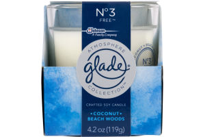 Glade Crafted Soy Candle Coconut Beach Woods