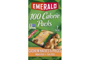 Emerald 100 Calorie Packs Cashew Halves & Pieces - 7 PK