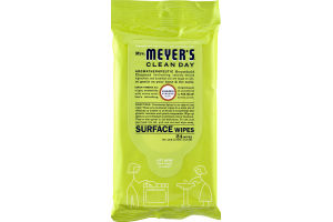 Mrs. Meyer's Clean Day Lemon Verbena Scent Surface Wipes - 24 CT