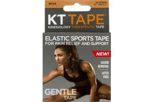 KT Tape Gentle Strips Beige - 20 CT