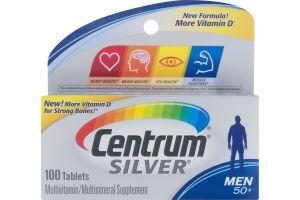 Centrum Silver Multivitamin/Multimineral Supplement Men 50+ - 100 CT