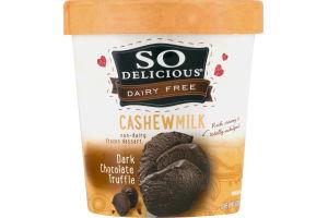 So Delicious Dairy Free Frozen Dessert Cashew Milk Dark Chocolate Truffle