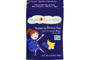MySuperSnack Blueberry Banana Acai Granola Bites