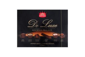 Конфеты в черном шоколаде De Luxe Корона к/у 146г