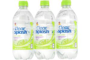 Ahold Clear Splash Key Lime - 6 PK