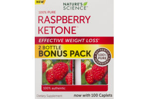 Nature's Science Raspberry Ketone Dietary Supplement Caplets - 2 PK